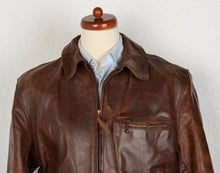 Load image into Gallery viewer, Vintage Aero Leather Front Quarter Horsehide Leather Jacket