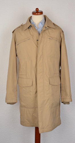 Fay Heavy Cotton Parka/Coat Size M(L) - Tan