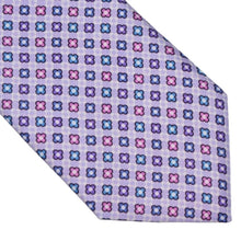 Load image into Gallery viewer, Michele Baggio Floral Print Silk Tie - Purple