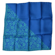 Load image into Gallery viewer, Andrew's Ties Silk Pocket Square - Blue Hibiscus