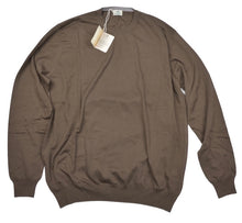 Load image into Gallery viewer, Luigi Borrelli Cotton Sweater Size 56 - Brown