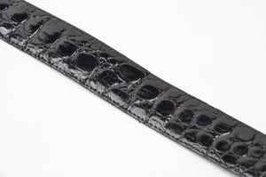 Genuine Crocodile Belt Size 105 - Black
