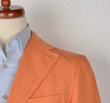 Load image into Gallery viewer, Raffaele Caruso Linen & Cotton Jacket Size 46 - Orange