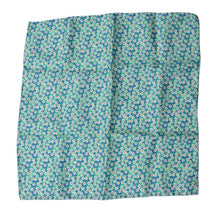 Load image into Gallery viewer, Silk Pocket Square Flower Print - Greens
