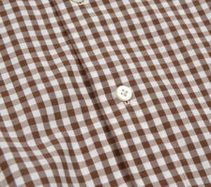 Truzzi Milano Checked Shirt Size Size 43 17 - Brown Gingham