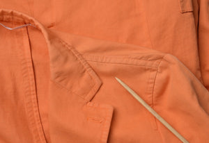 Raffaele Caruso Linen & Cotton Jacket Size 46 - Orange