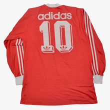 Load image into Gallery viewer, Vintage '80s Adidas #10 & #15 Long Sleeve Jersey Size D7-8/L - Red