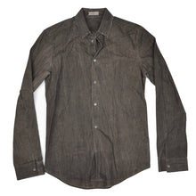 Load image into Gallery viewer, Balenciaga Paris Waxed Shirt Size 39 - Charcoal