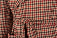 Load image into Gallery viewer, Vintage Handmade Shawl Collar Wool Robe - Plaid