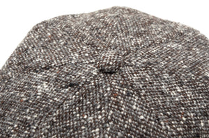 Stetson Hatteras Donegal Tweed Flatcap Hat Size 55/S - Brown