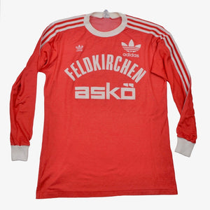 Vintage '80s Adidas #10 & #15 Long Sleeve Jersey Size D7-8/L - Red