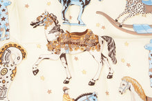 Load image into Gallery viewer, Longchamp Paris Rockinghorse Print Silk Scarf