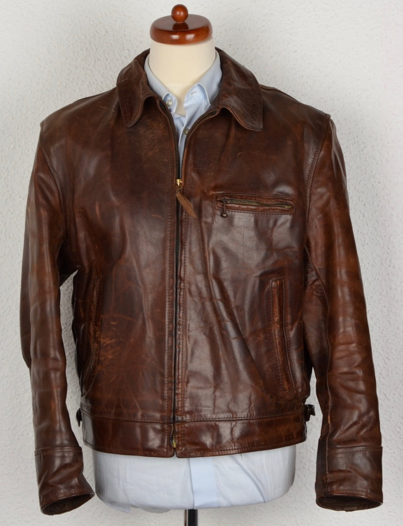 Vintage Aero Leather Front Quarter Horsehide Leather Jacket