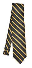 Load image into Gallery viewer, Breuer Stripe Silk & Cotton Tie - Green, Blue & Yellow