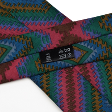 Load image into Gallery viewer, Fiorio Wool Tie Aztec Print - Fuchsia