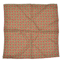 Load image into Gallery viewer, Anonymous Handrolled Paisley Silk Pocket Square - Red, Yellow, Green