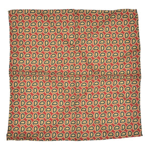 Anonymous Handrolled Paisley Silk Pocket Square - Red, Yellow, Green