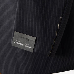 New Raffaele Caruso Sartoria Parma Suit Size 56 - Pin Striped