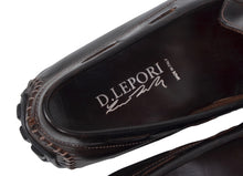 Load image into Gallery viewer, D. Lepori Leather Driving Shoes Size 45 - Dark Brown