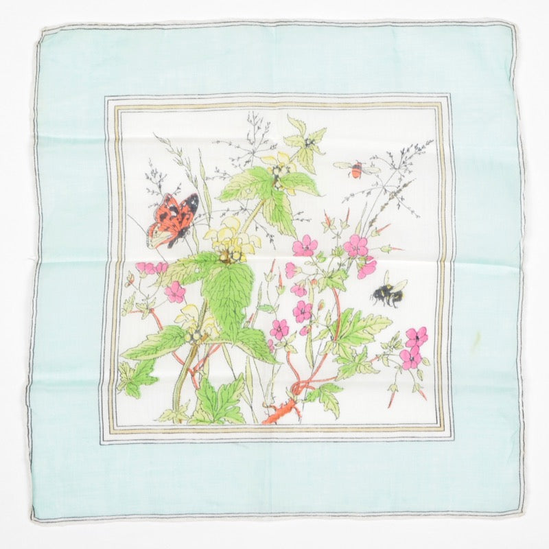Anonymous Handrolled Cotton Pocket Square - Nature Print