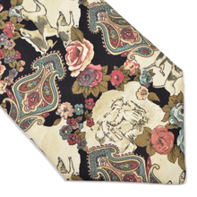 Load image into Gallery viewer, Silk Fox Hunting Scene Tie by Monti