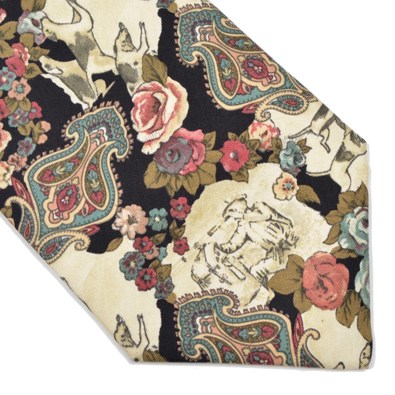 Silk Fox Hunting Scene Tie by Monti