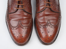 Load image into Gallery viewer, Bruno Magli Brogue Shoes Size UK 8 - Brown