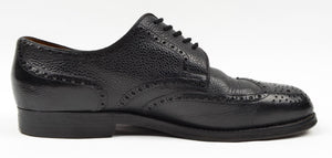 László Vass Scotch Grain Leather Shoes - Black