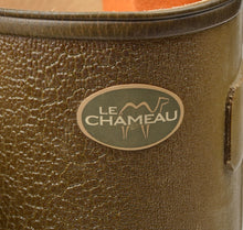 Load image into Gallery viewer, Le Chameau Leather-Lined Chasseur Rubber Boots/Wellies Size 43 - Green