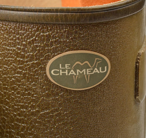 Le Chameau Leather-Lined Chasseur Rubber Boots/Wellies Size 43 - Green