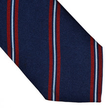Load image into Gallery viewer, Paolo Romani Repp Stripe Silk Tie - Navy/Red