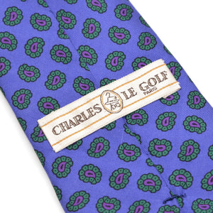 Charles Le Golf Paris Ancient Madder Silk Tie - Violet Paisley