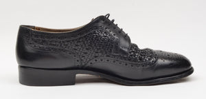 Ludwig Reiter Basket Weave Shoes Size 8 - Black
