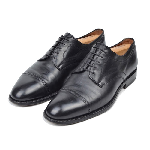 Silvano Mazza Black Cap Toe Shoes Size 9.5 - Black