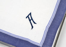 Load image into Gallery viewer, Monogrammed Cotton Handkerchiefs/Pocket Squares - A