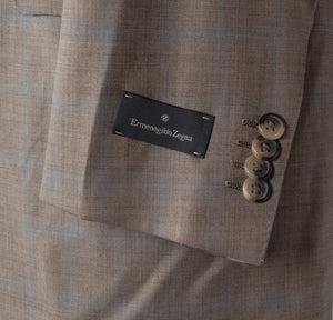 New Ermenegildo Zegna 15milmil15 Size 50 Suit - Plaid