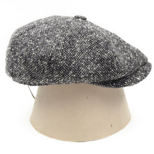 Load image into Gallery viewer, Stetson Hatteras Donegal Tweed Flatcap Hat Size 55/S - Grey