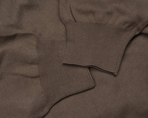 Luigi Borrelli Cotton Sweater Size 56 - Brown