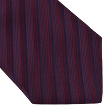 Load image into Gallery viewer, Atkinsons Striped Silk Tie - Purple
