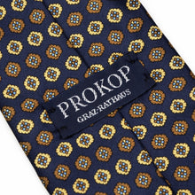 Load image into Gallery viewer, Prokop Graz English Fourlard Tie - Navy