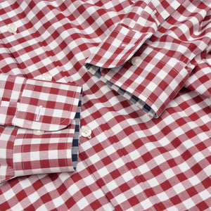 Brooks Brothers Shirt Size XL Slim Fit - Red Gingham