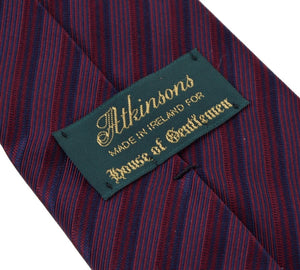 Atkinsons Striped Silk Tie - Purple