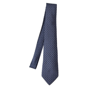 Hermès Paris Silk Tie 7299 EA - Navy