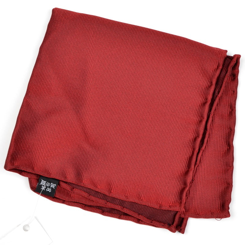 Anonymous Handrolled Silk Pocket Square - Wine