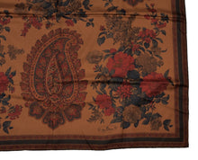 Load image into Gallery viewer, Etienne Aigner Printed Silk Scarf - Copper Brown
