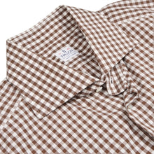 Load image into Gallery viewer, Truzzi Milano Checked Shirt Size Size 43 17 - Brown Gingham