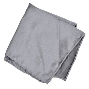 Anonymous Handrolled Silk Pocket Square - Silver