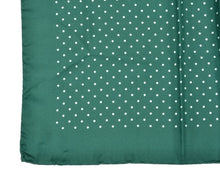 Load image into Gallery viewer, Andrew's Ties Collection Silk Pocket Square - Green Polka Dot