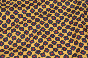 Anonymous Handrolled Geometric Silk Pocket Square - Red, Yellow, Blue