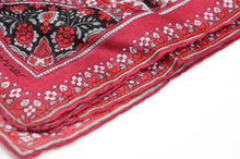 Load image into Gallery viewer, Lehner Switzerland Cotton Pocket Square - Red Floral